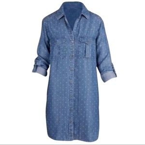 Philosophy Chambray Polka Dot Shirt Dress - C
